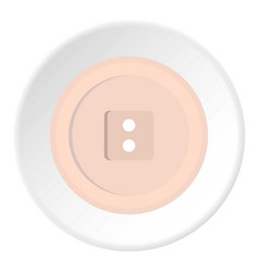 White sewing button icon circle vector