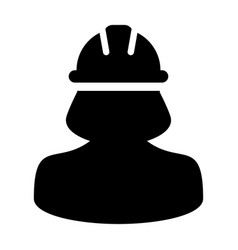 Woman construction worker icon person avatar vector