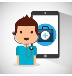 Technology application medical icon vector