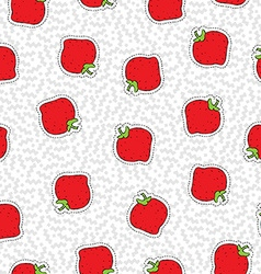 Hand drawn strawberry patch icon seamless pattern vector image
