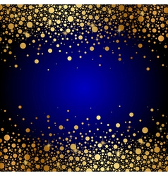 Blue and gold luxury background vector