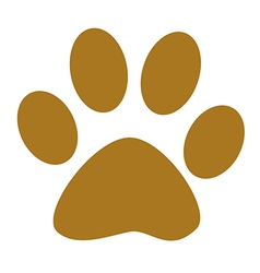 Dog paw print vector