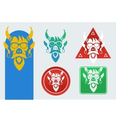 Set of masks devil vector