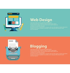 Flat designed banners for graphic design web vector