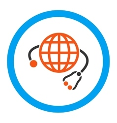 Global medicine rounded icon vector