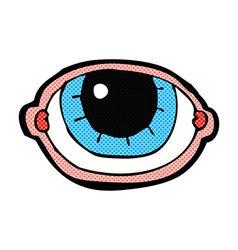 Comic cartoon staring eye vector
