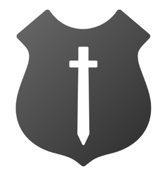 Guard shield gradient icon vector