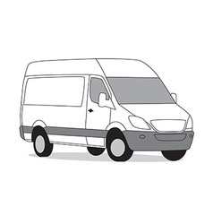 Delivery van white vector image