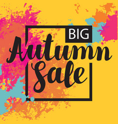 Autumn sale banner with bright abstract spots vector