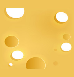 Background with cheese texture vector