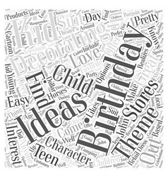 birthday decorating ideas Word Cloud Concept vector image