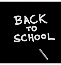 black board and chalk vector image vector image