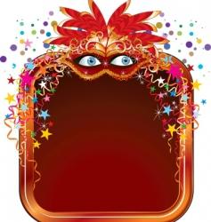 carnival frame vector image vector image