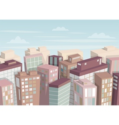City landscape isometric view vector