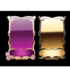 decorative banners vector image vector image
