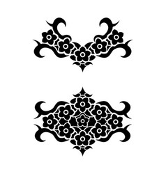 flowers tribal tattoo set vector image vector image