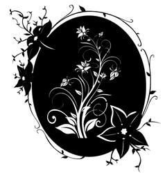fram flowers 02 vector image