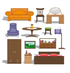 Furniture for bedroom vector image