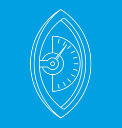 Hand dynamometer icon outline style vector
