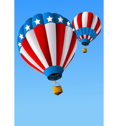 Hot air balloons of 4 of july background vector