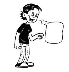 kid black vector image