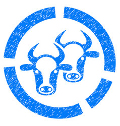 Livestock diagram icon grunge watermark vector