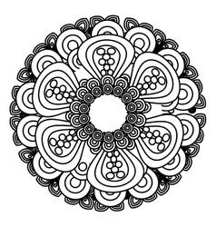 mandala art decorative icon vector image