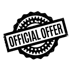 Official offer rubber stamp vector