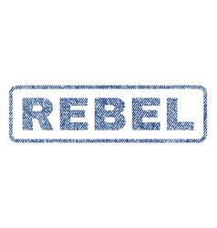 Rebel textile stamp vector