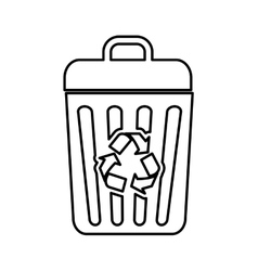 Recycle trash icon ecology design graphic vector