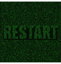 restart code background vector image vector image