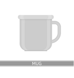 steel mug icon vector image