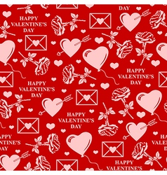 valentines seamless red vector image