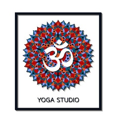Yoga studio business template with chakra manipura vector