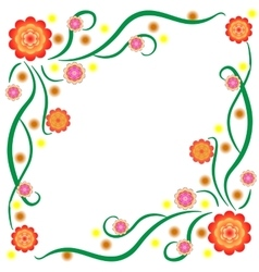 The pattern of bright stylized flowers vector
