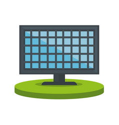 Colorful lcd monitor over base vector