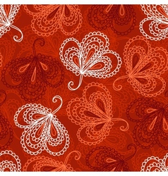 Ornate floral seamless pattern vector