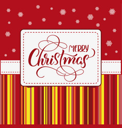 Holiday frame with merry christmas on white vector