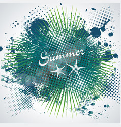 Summer time sign on abstract blot spot background vector
