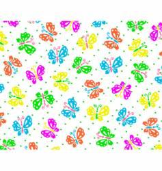 butterflies wallpaper pattern vector image