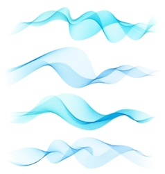 Abstract colorful transparent wave vector image