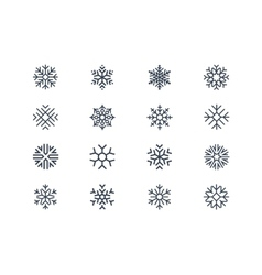 Snowflake icons vector