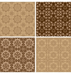 Seamless set four vintage backgrounds vector