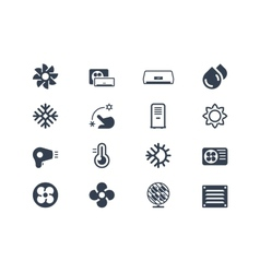 Air conditioning icons vector