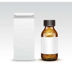 Blank medicine medical glass bottle vector