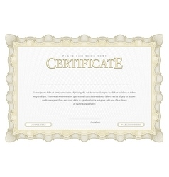 Vintage certificate template diplomas currency vector