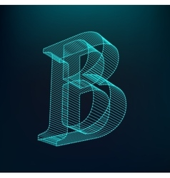 The letter B Polygonal letter Low poly model vector image