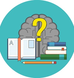 Searching for answers learning concept flat design vector