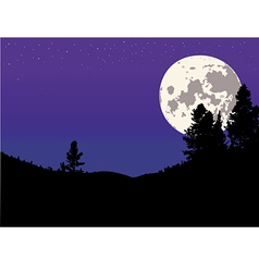 Night moon background vector