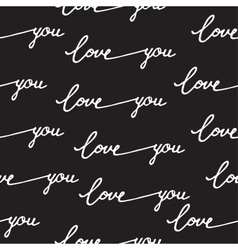 Seamless pattern calligraphy love you vector